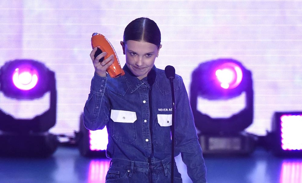 Millie Bobby Brown, protagonista de los Kids' Choice Awards